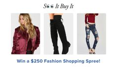 Win a $250 Fashion Shopping Spree Giveaway! Ends 3/1 {US} {CA}... IFTTT reddit giveaways freebies contests