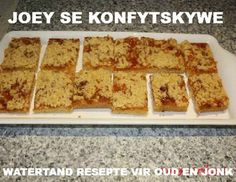 KLEIN TERTJIES SOET Sweet Recipes, Cake Recipes, Jam Tarts, Chocolate Pies, Small Cake, Savory Snacks, How Sweet Eats, Homemade Cakes, Party Cakes