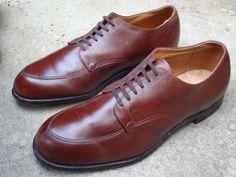 ALDEN of NEW ENGLAND 302 Men's Light Brown Split Toe Oxford Shoes size 12.5 #Alden #Oxfords