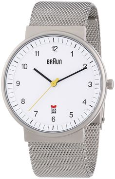 Braun Herren-Armbanduhr XL BN0032WHSLMHG Analog Edelstahl