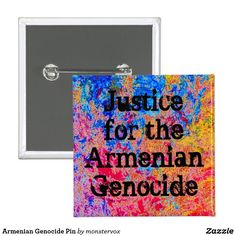 Armenian Genocide Pin #ArmenianGenocide #Armenia #Turkey #Justice #April24 #April1915 #Pin #Button