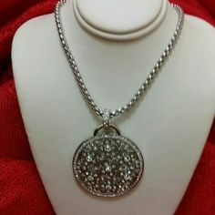 I just discovered this while shopping on Poshmark: Diamond Medallion Necklace. Check it out!  Size: OS