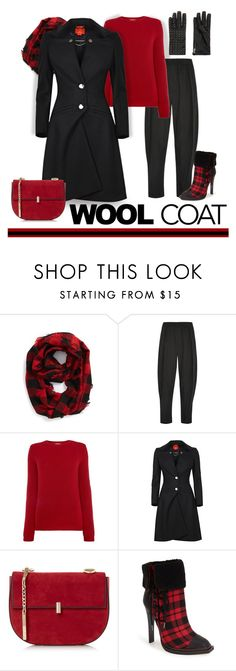 """""""Winter Coat"""" by patricia-dimmick on Polyvore featuring Steve Madden, Vivienne Westwood Anglomania, MaxMara, Vivienne Westwood, gx by Gwen Stefani, Maison Scotch, plaid, wintercoat, woolcoat and dresscoat"""