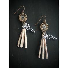 Tassel Silver Bullet Cowgirl Western Earrings Brand new Bullet earrings Jewelry Earrings