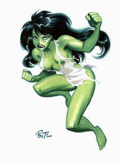 She Hulk by Bruce Timm