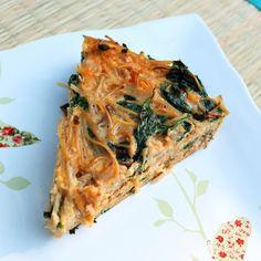 Spinach and Pasta Frittata by fullmeasureofhappiness #Frittata #Spinach #fullmeasureofhappiness