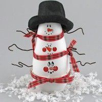 Snowman PileUp Craft                        It's a pile up! These three snowmen cleverly decorate a Renuzit® Adjustable Air Freshener for great scents all winter long