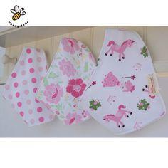 3Pcs/lot Cotton Baby Bibs Boys Girls Towel Cartoon Baby Bandana Bibs Newborn Baby Bib Infant Saliva Towel Toddler Clothing