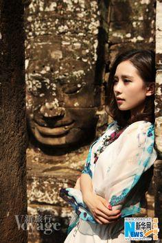 Chinese actress Liu Shishi visits Cambodia for 'Voyage' magazine