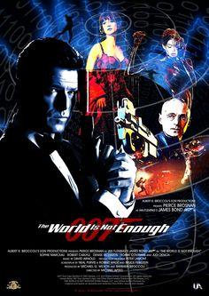 All James Bond Movies, James Bond Movie Posters, Cinema Posters, Movie Talk, Pierce Brosnan, Bond Girls, Retro Illustration, Quilt Design, Good Movies