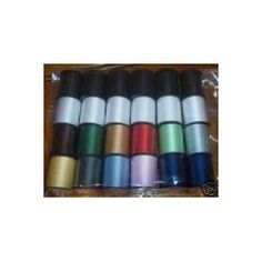 24 assorted spools of thread full size 200 yards each buy now for 9