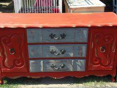 distressed dresser tv stand
