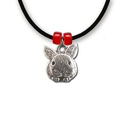Pewter Rabbit Necklace by The Magic Zoo ** Check out this great product.
