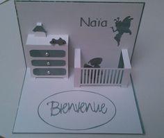 carte de naissance pop up