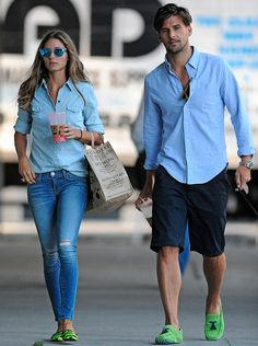 THE OLIVIA PALERMO LOOKBOOK: Olivia Palermo and Johannes Huebl walking Mr Butler in NYC. --matchy, matchy, tony and i always unintentionally match!---