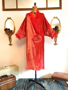 Vintage STUNNING 1920's Flapper Coat / Tangerine by WhynaughtShop of Etsy.