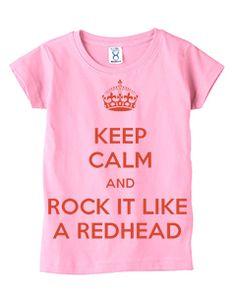 Keep Calm and Rock it like a Redhead Toddler T-Shirt – Light Pink c3b32cdfdab