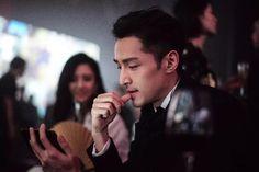 Hu Ge at the Vogue China party