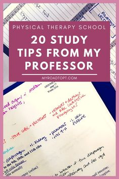 20 PT School study tips from my anatomy professor. Perfect for college or grad s… 20 PT School study tips from my anatomy professor. Perfect for college or grad school! Study Tips For High School, Life Hacks For School, School Tips, College Study Tips, Studying In College, Study Tips For Exams, College Guide, College Checklist, College Survival Guide
