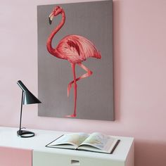 Flamingo Wallhanging by @suzyhoodless