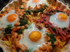 Picture a Recipe!: Pasta met gerookte zalm en spinazie