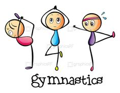 Buy Stickmen Doing Gymnastics by interactimages on GraphicRiver. Illustration of the stickmen doing gymnastics on a white background Art Drawings For Kids, Doodle Drawings, Drawing For Kids, Cartoon Drawings, Doodle Art, Cute Drawings, Stick Figure Drawing, Drawing Activities, Baby Drawing