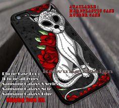Sugar Skull Cat iPhone 6s 6 6s  6plus Cases Samsung Galaxy s5 s6 Edge  NOTE 5 4 3 #art ii