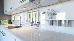 Eine Küchenrückwand aus Glas wirkt edel und modern (Quelle: Thinkstock by Getty-Images)
