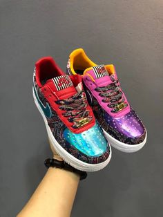 Super Deals Qup Nike Air Force One De Lo Mio Af1 Multi Color What The BQ8448 100 Material Full Grain Leather