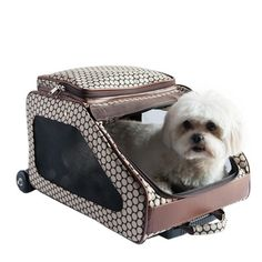 Petote Rio Bag On Wheels Pet Carrier, Noir Dots Travel in style with your pet. The Petote Rio Bag on wheels is a deluxe 3 in 1 pet carrier. The Rio Bag function Airline Approved Pet Carrier, Faux Fur Bedding, Large Dog Crate, Wireless Dog Fence, Dog Stroller, Dog Shock Collar, Cat Cages, Dog Car Seats, Dog Bag