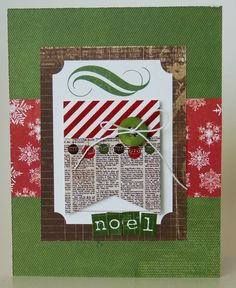 Noel Card from Very Merry Christmas Collection. #echoparkpaper