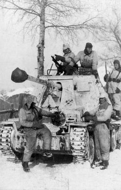 German Soldiers of the 1st SS Panzer Division near Kharkov, Russia  February 1943