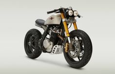 Dirt Bike converted into a Cafe Racer