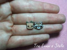 Hey, I found this really awesome Etsy listing at https://www.etsy.com/listing/234661757/earrings-groot-and-rocket-raccoon