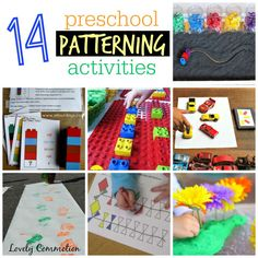 A round up of 14 hands on preschool patterning activities.