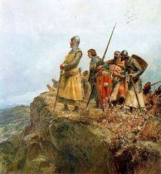 Pedro III el Grande en el collado de las Panizas