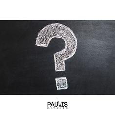 Hast Du eine Frage zu uns oder unseren Produkten?  Dann bitte einfach kommentieren wir versuchen alle zu beantworten.  Dein Paulis Kitchen Team  #customer #question #Kunden #Fragen Tricks, Symbols, Letters, Videos, Not Interested, Knowledge, Simple, Thermomix, Rezepte