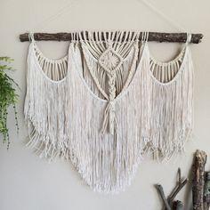 Macrame Wall Hanging Bohemian Hippie Tapestry / by KnittingWonders