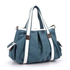SUNROLAN Canvas Satchel Multipurpose Cross Body Bag Top Handle Totes Handbags qisong1087Blue: Handbags: AmazonSmile