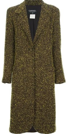 Chanel Vintage bouclé long coat