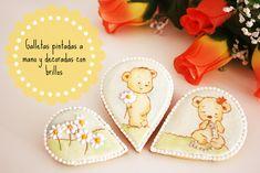 Dolce Sentire {Galletas decoradas}: Galletas pintadas a mano y decoradas con brillos {Video Tutorial}