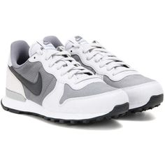 Nike Nike Internationalist Premium Sneakers (1215 MAD) ❤ liked on Polyvore featuring shoes, sneakers, grey, nike trainers, grey sneakers, grey shoes, nike shoes and gray sneakers