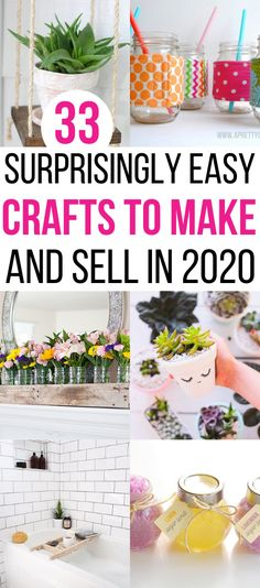Looking for hot craft ideas to sell on Etsy or at craft fairs? Check out these 33 EASY crafts to make and sell from home to make EXTRA CASH quickly! Check out these DIY crafts to sell NOW to make extra money for Christmas. Diy Projects To Make And Sell, Easy Crafts To Sell, Christmas Crafts To Sell, Diy Craft Projects, Christmas Fun, Fun Crafts, Crafts For Kids, Craft Ideas, Making Extra Cash