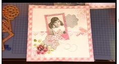 Scrapbook page - Shabby chic with die cut embellishments.