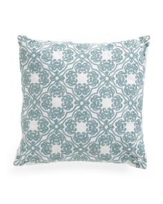 20x20+Embroidered+Lattice+Pillow