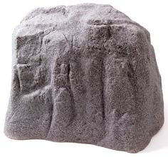 """Large Rock, RiverRock  19"""" H x 25"""" W x 18.4"""" L. This artificial rock serves a variety of purposes. Employ it to hide unsightly electrical or cable boxes, cover up visually unappealing and potentially dangerous wells, pipes or sprinkler valves or simply place in areas that seem empty."""