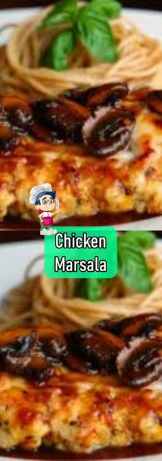 Chicken Marsala Yummy Recipes, Yummy Food, Marsala Wine, Chicken Marsala, Chicken Noodle Soup, Boneless Chicken Breast, How To Dry Oregano, Recipe Today, Rezepte
