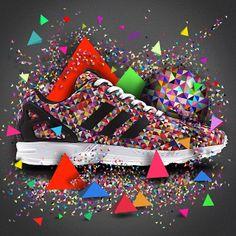 THESE. adidas ZX Flux Multicolour Prism