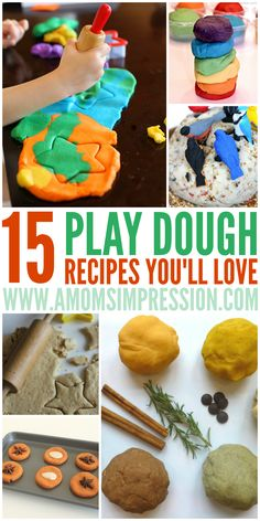 15 Play Dough Recipes You'll Love.  This is a great activity to do with kids and they make great gifts for friends.