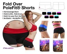 Fold Over PoleFit® Shorts by badkittyusa on Polyvore